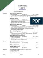 Higher Ed Jobs Resume 2011