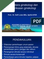 Rps138 Slide Pengantar Ginekologi Dan Pemeriksaan Ginekologi