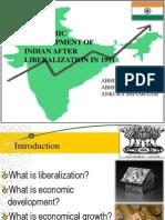 Economic Development After Liberalization