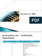 8086 instructionset