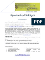 tof 2011 - sponsorship packages