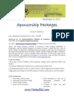 tof 2011 - sponsorship packages
