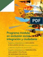 Programa modular en Exclusión Social, Integración y Ciudadanía (UNED)