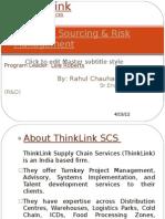 Strategic Sourcing & Risk Management
