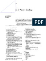 Comparison of Pasive Cooling Techniques