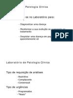 Laboratório Patologia Clínica