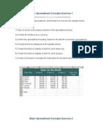 Basic Spreadsheet Exercise