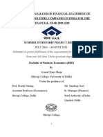 SAIL Internship Project 2010-11