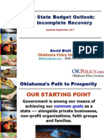 Oklahoma Budget Trends and Outlook (September 2011)