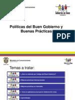 Politicas Del Buen Gobierno y Las Buenas Practicas