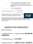 Marketing Research ( Mr )