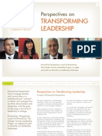 Perspectives on Transforming Leadership