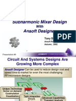 Sub Harmonic Mixer Design With Ansoft Designer