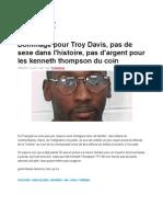 20-09-11 Dommage Pour Troy Davis, Pas de Sexe Dans l'histoire Pas d'Argent Pour Les Kenneth Thompson Du Coin