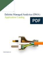 Deloitte Managed Analytics (DMA) Application Catalog