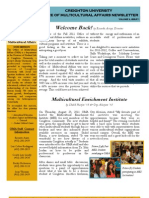 Office of Multicultural Affairs Newsletter Fall 2011