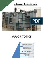 Presentation on Electrical Equipment