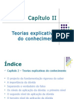 UNIDADE 2 - Cap II Teorias Explicativas Do Conhecimento