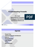 Troubleshooting Firewalls