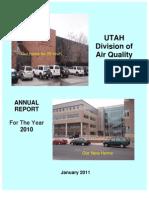 Utah Air Quality 2010 Annual Report