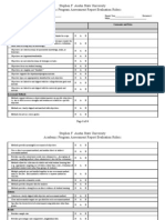 Program Assessment Report Evaluation Rubric 8 29 11a
