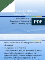 The Hermeneutic Motion by George Steiner