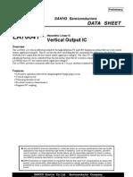 LA78041 Vertical Deflection Output IC