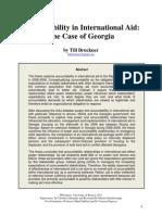 Accountability in International Aid - The Case of Georgia (by Till Bruckner 2011)