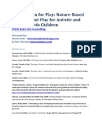 Nature-Based Learning and Play for Autistic and Special Needs Children