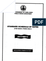 Schedule of Rate 2011-12