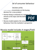 Nicosia Model of Consumer Behaviour