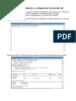 Instalaciòn y configuraciòn de servidor FTP