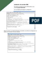 Instalaciòn y configuracion servidor DNS Debian.