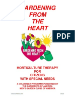 Gardening from the Heart - Horticultural Therapy for Citizens with Special Needs