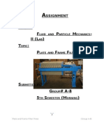 Assignment (Plate and Frame Filter Press) Group a-8)