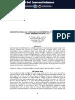 Micro Structural and Corrosion Characteristics of Aerospace Grade Alloys
