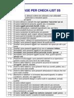 Database Per Check-list 5S