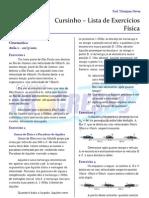 Cursinho - Física - Lista 01 - Fundamentos de Cinemática