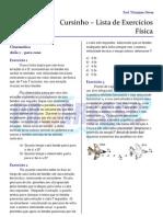 Cursinho - Física - Lista 02 - Fundamentos de Cinemática (para casa)