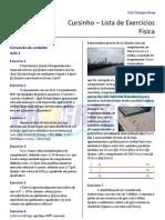Cursinho - Física - Lista 03 - Conversões de Unidades