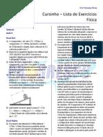 Cursinho - Física - Lista 05 - Vetores