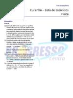 Cursinho - Física - Lista 06 - Exercícios de Cinemática