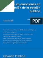 El Rol de las Emociones en la Formación de la Opinión Pública - Juan Fernando Giraldo