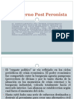 El Gobierno Post Peronista
