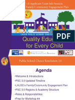 PSC 3.0 Update on Family & Community Engagaement 9-19-11