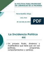 Incidencia Política y Género - María Bastidas