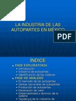 La ind. de las autopartes en México
