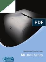 Manual Samsung Impresora Ml 1610
