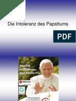 H Kesten - Die-Intoleranz-Des-Papsttums (Script Zum Vortrag)