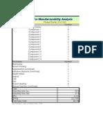 Detailed DFM Analysis (Üretim için Tasarım Analizi)